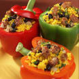 Greek stuffed peppers and tomatoes recipe