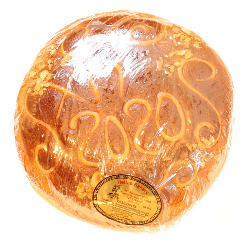 "Vasilopita - 10"" Loaf Serves 8 : GreekInternetMarket.com"