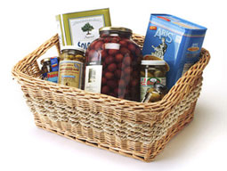 greek olive oil and olives gift basket