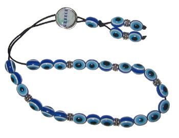 Evil Eye Worry Beads - Greek Map - Greece - Blue & Turquoise